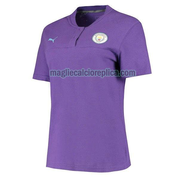 manchester city maglie polo calcio 2019-2020 purpura uomo